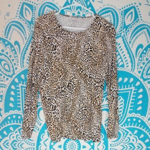 Chicos Leopard Print The Ultimate Tee Size 1 S M